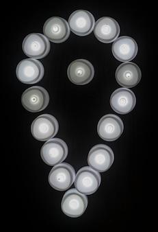 Luzes cinzas check-in ícone