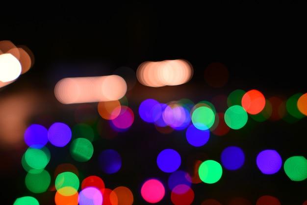 Luzes coloridas bokeh de fundo