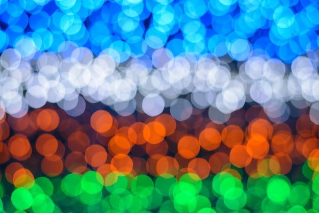 Luzes coloridas com efeito bokeh