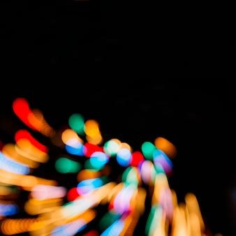Luzes coloridas em longa exposição