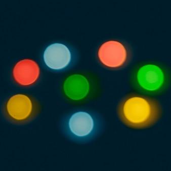 Luzes coloridas multi bokeh em fundo escuro