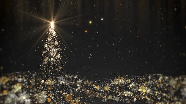 Luzes da árvore de natal isoladas no preto