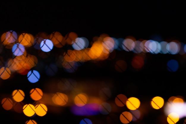 Luzes da cidade de bokeh em fundo preto