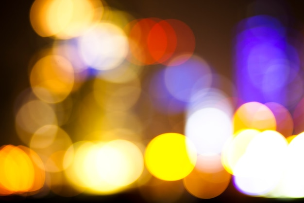Luzes da cidade de bokeh textura abstrata urbana desfocada ao fundo