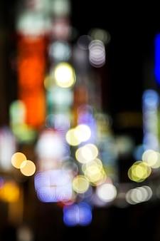 Luzes da cidade desfocado em tóquio