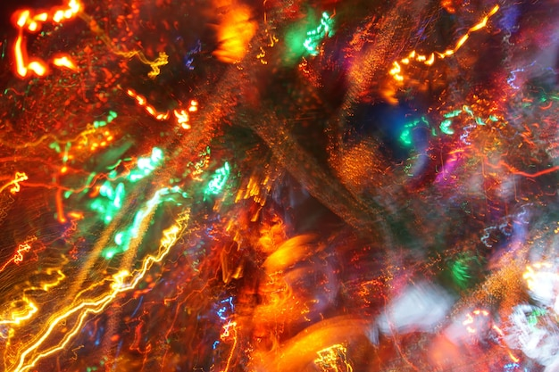 Luzes de desfoque de zoom