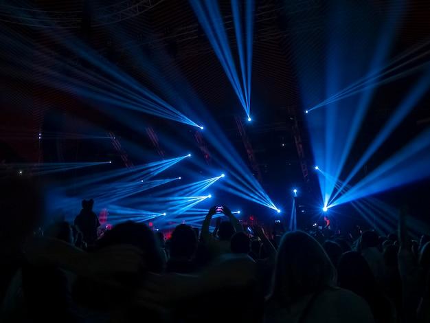 Luzes de discoteca azuis