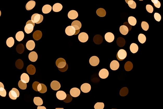 Luzes de fadas desfocadas