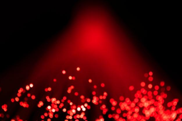 Luzes de fibra óptica digital de luz vermelha
