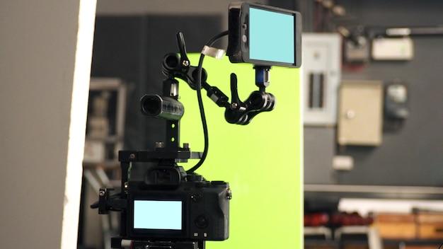 Luzes de grande estúdio para filmes de vídeo ou produção de filmes que pesam e se mantêm fortes