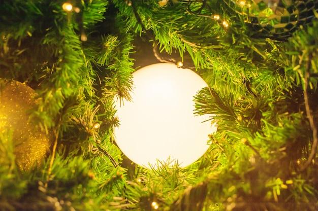 Luzes de natal de saudações de estação de decoração