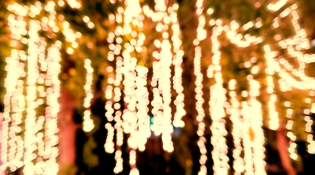 Luzes de natal turva