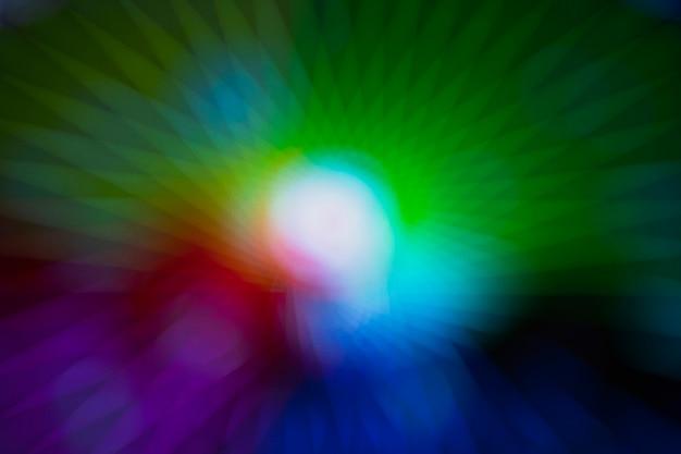 Luzes de néon abstratas com efeito borrado