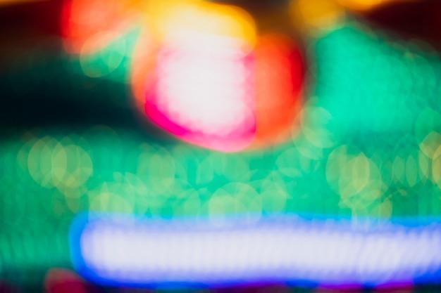 Luzes de néon coloridas fora de foco bokeh