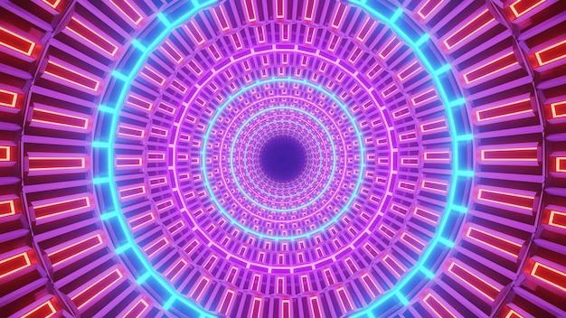 Luzes de néon em círculo Foto gratuita