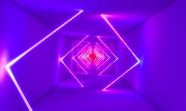 Luzes de néon no fundo do túnel
