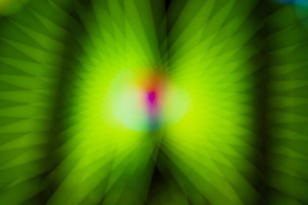Luzes de neon verdes com efeito borrado