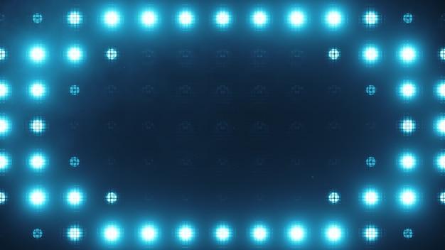 Luzes de parede piscando. luzes intermitentes lanternas para clubes e discotecas. lâmpada halógena de boate.
