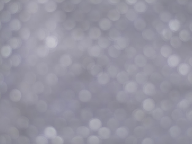 Luzes de prata bokeh de fundo