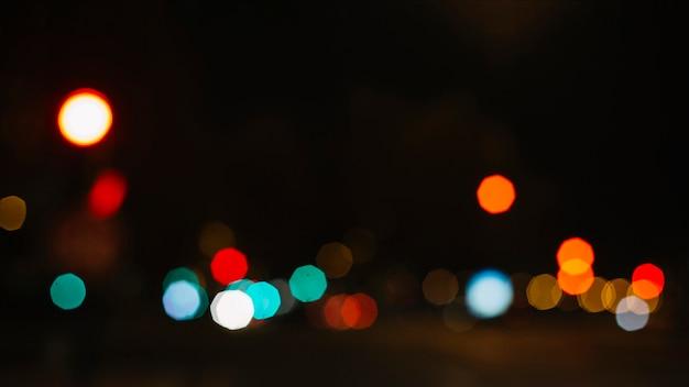 Luzes de rua multicoloridas
