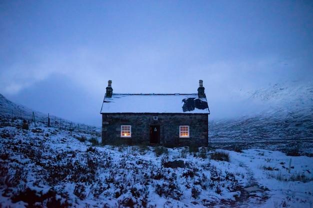 Luzes de uma casa de campo