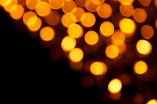 Luzes decoradas borradas para festa elegante