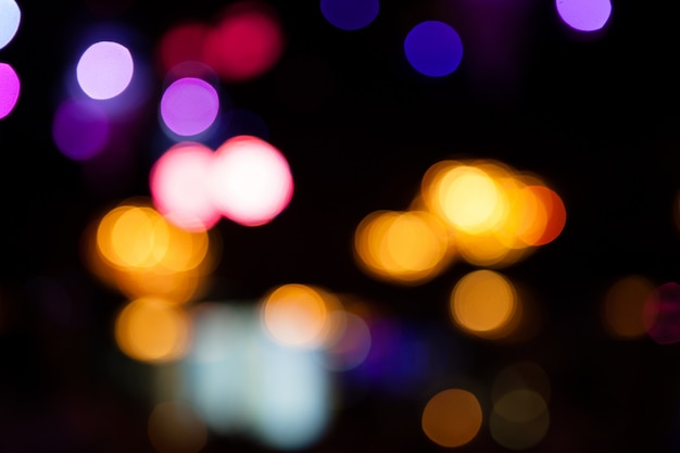 Luzes desfocadas bokeh de fundo da festa da noite para seu projeto