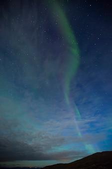 Luzes do norte em nordkapp, norte da noruega. europa.