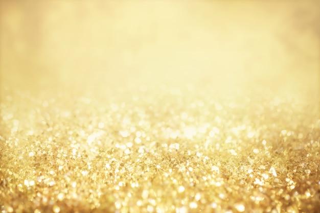 Luzes douradas festivas de natal luzes douradas desfocadas
