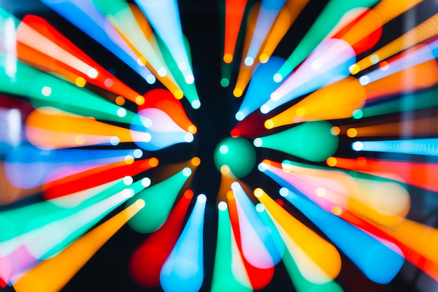 Luzes, em movimento, direção, centro