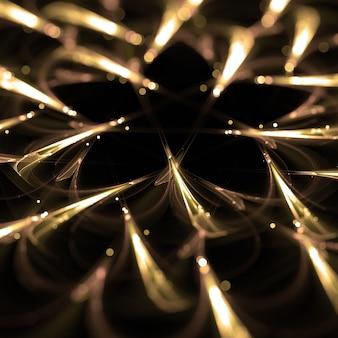 Luzes fractal partículas estilo 3d wallpaper