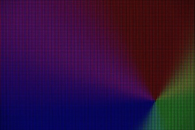 Luzes led do painel de exibição de tela de monitor de led de computador.