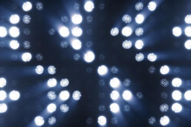 Luzes piscando piscam na forma de uma seta