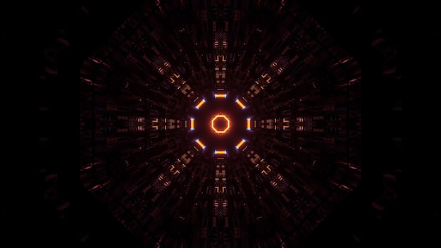 Luzes próximas umas das outras dispostas em ordem circular