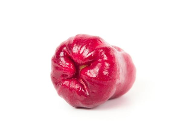Maçã rosa ou semente de maçã de java isolada no fundo branco.