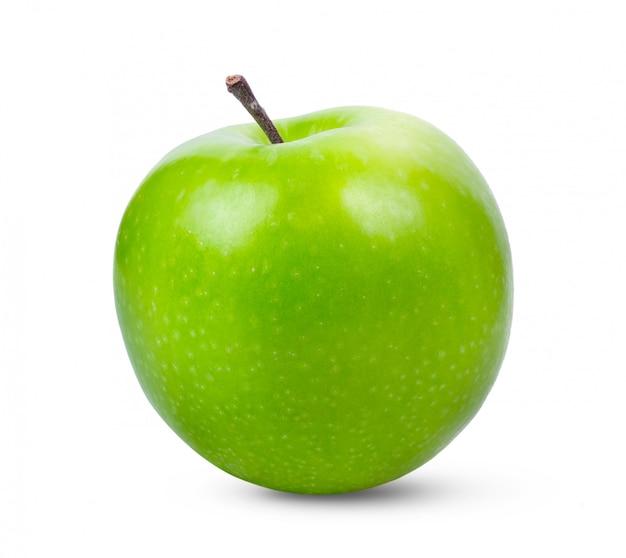 Maçã verde fresca na mesa branca