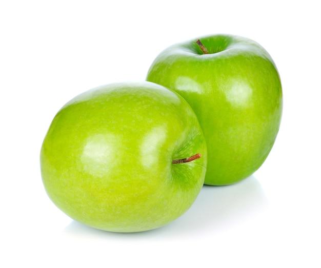 Maçã verde, isolado no fundo branco