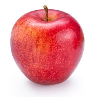 Maçã vermelha da inveja isolada no fundo branco com traçado de recorte.