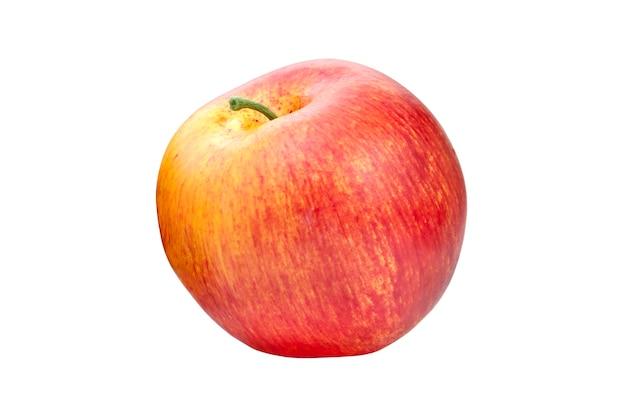 Maçã vermelha em fundo branco isolado