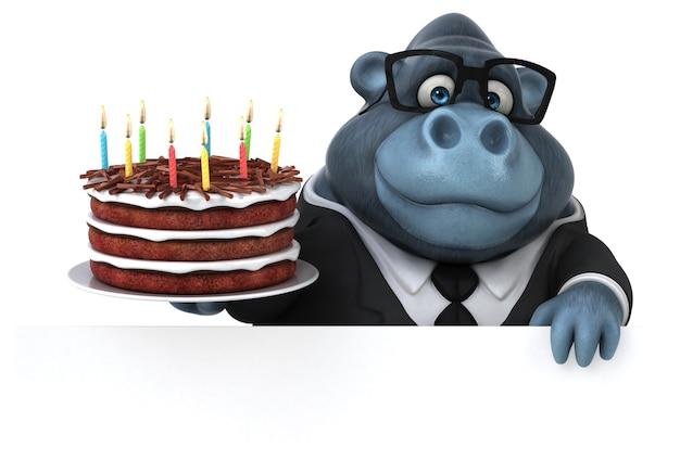 Macaco divertido - ilustração 3d
