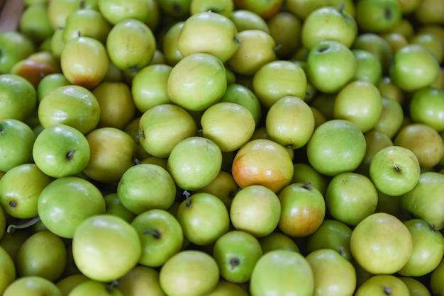 Macaco maçã fruta - jujubas verdes