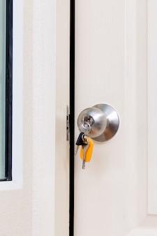 Maçaneta da porta com chaves