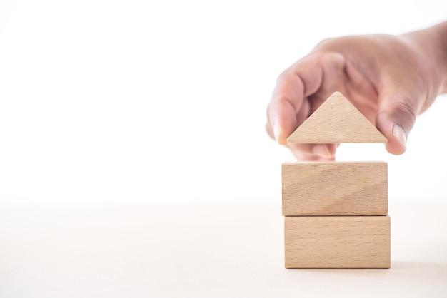 Maçaneta de casa construindo uma casa para segurança