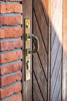 Maçaneta para portas de bronze