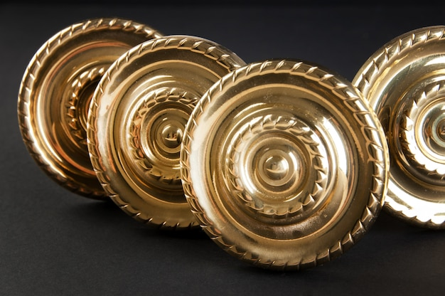 Maçanetas de bronze vintage