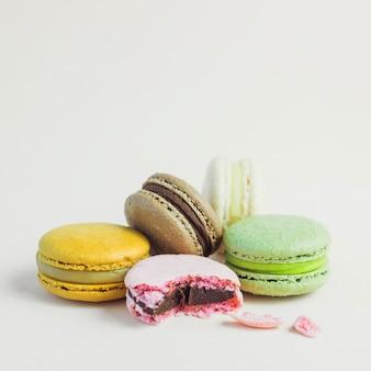 Macaron empilhados cor pastel