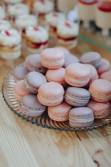 Macarons, deliciosos, doces