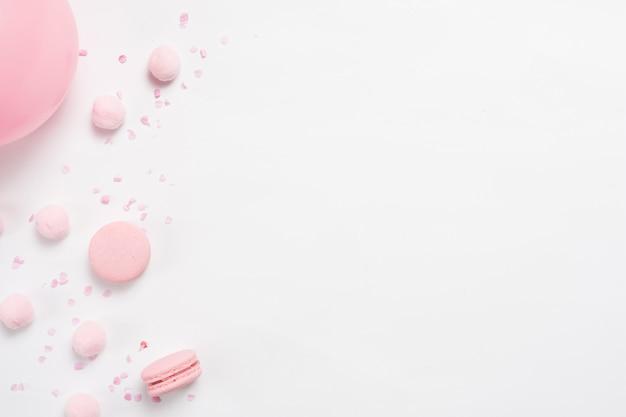 Macarons e balão