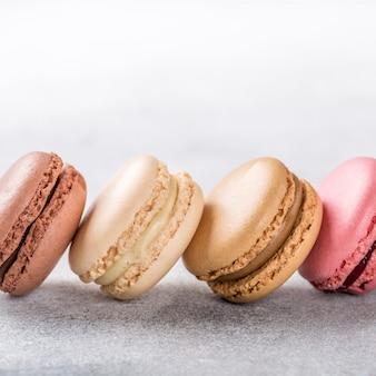 Macarons variados franceses