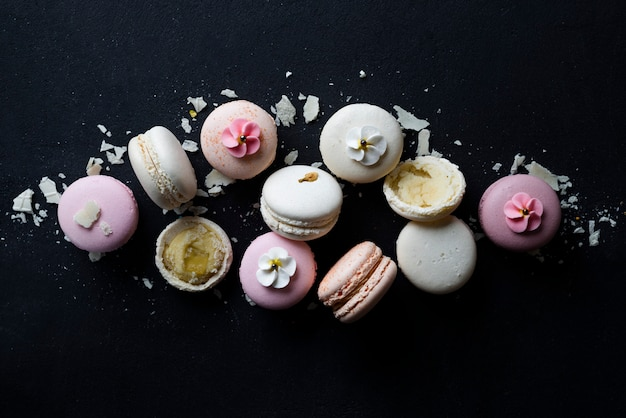 Macaroons de variedade pastel